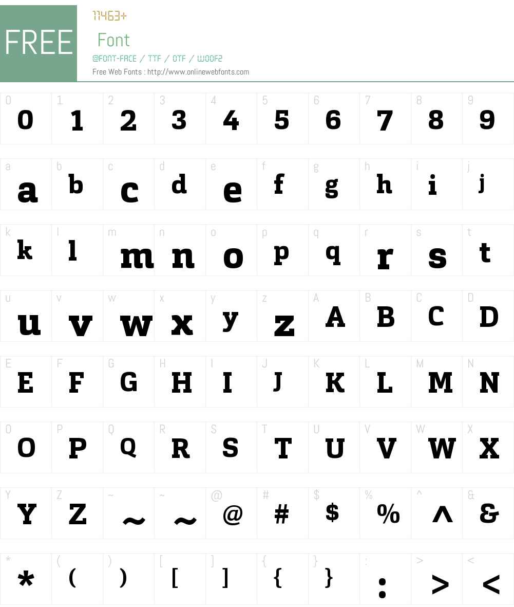 Cargan-ExtraBold Font Screenshots
