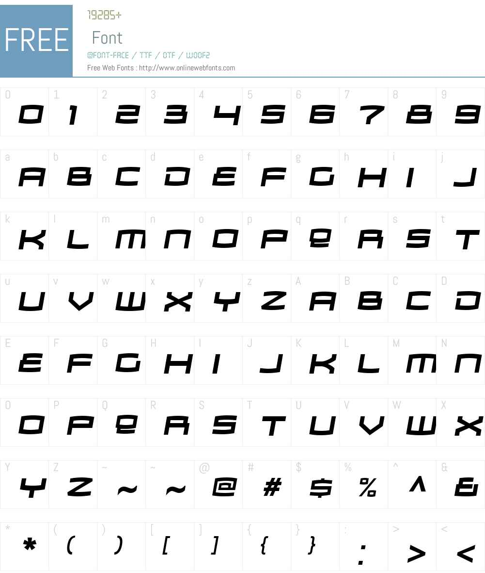 Zosma Font Screenshots