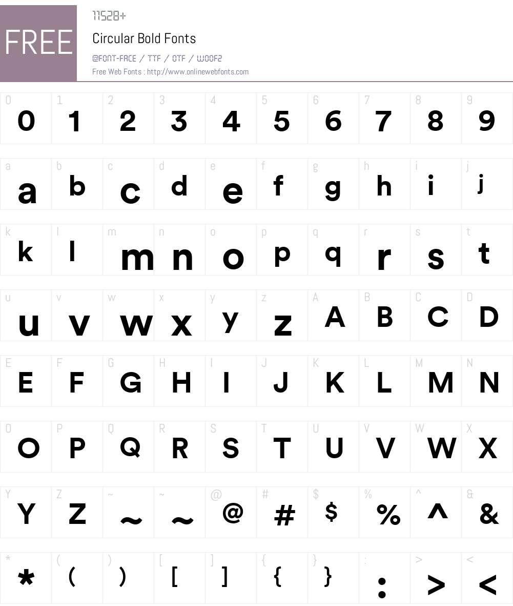 Circular Bold Font Screenshots