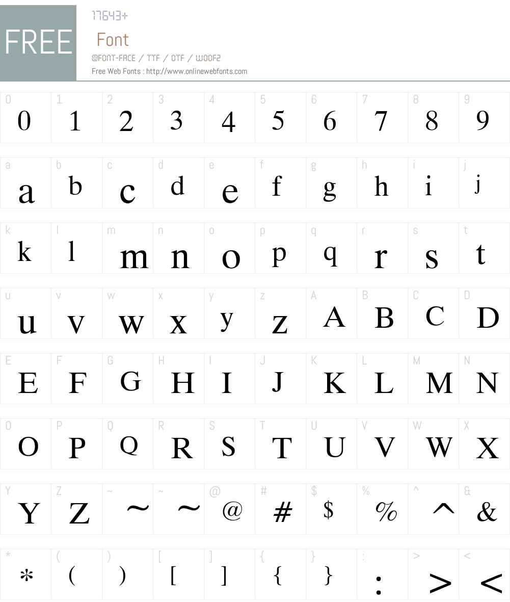 MicroTiempo-Normal Font Screenshots