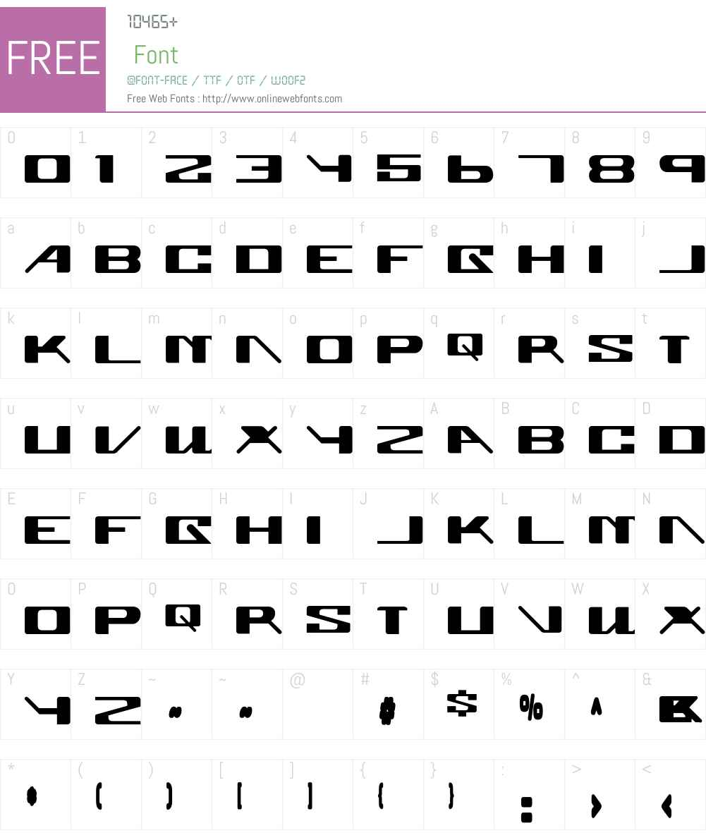 Superglue Font Screenshots