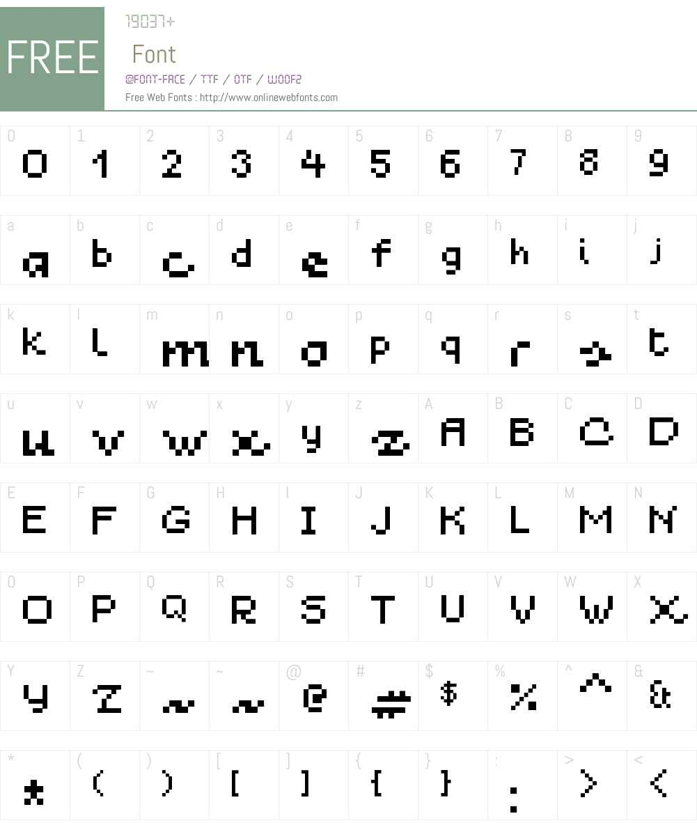 Blau 7pt Font Screenshots