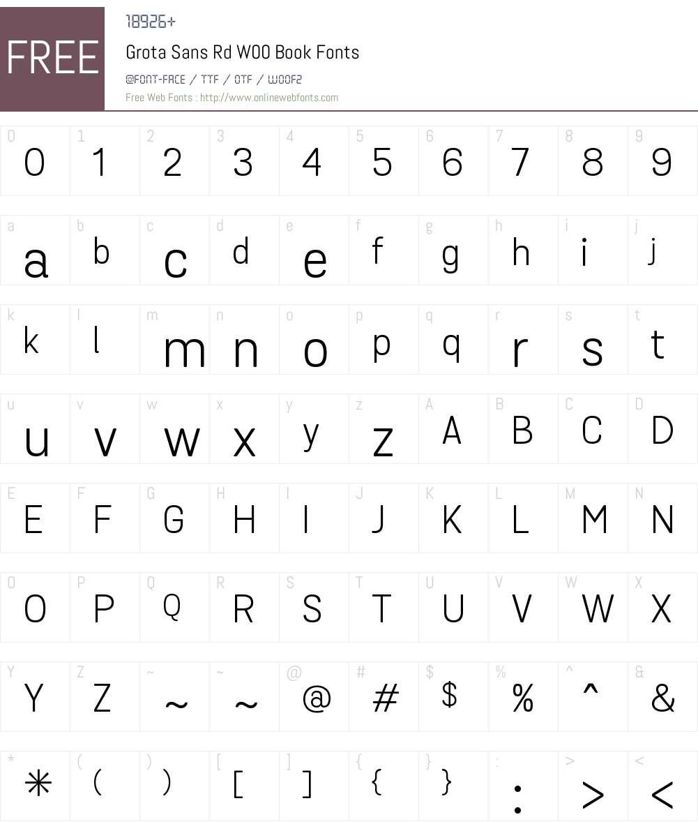 GrotaSansRdW00-Book Font Screenshots