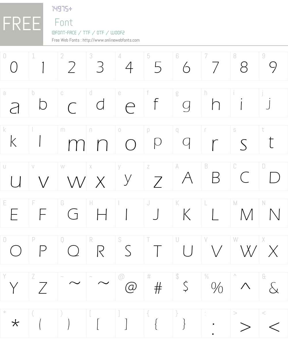 Ennis-Light Font Screenshots