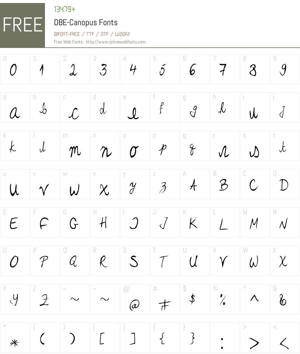 DBE-Canopus Font Screenshots