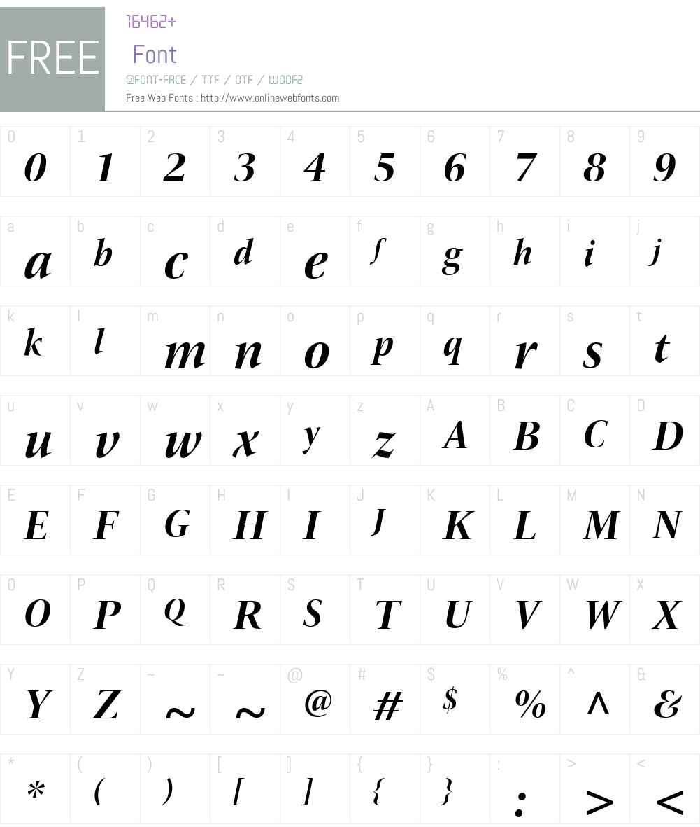 ITCNewVeljovicDSW01-BoldIt Font Screenshots
