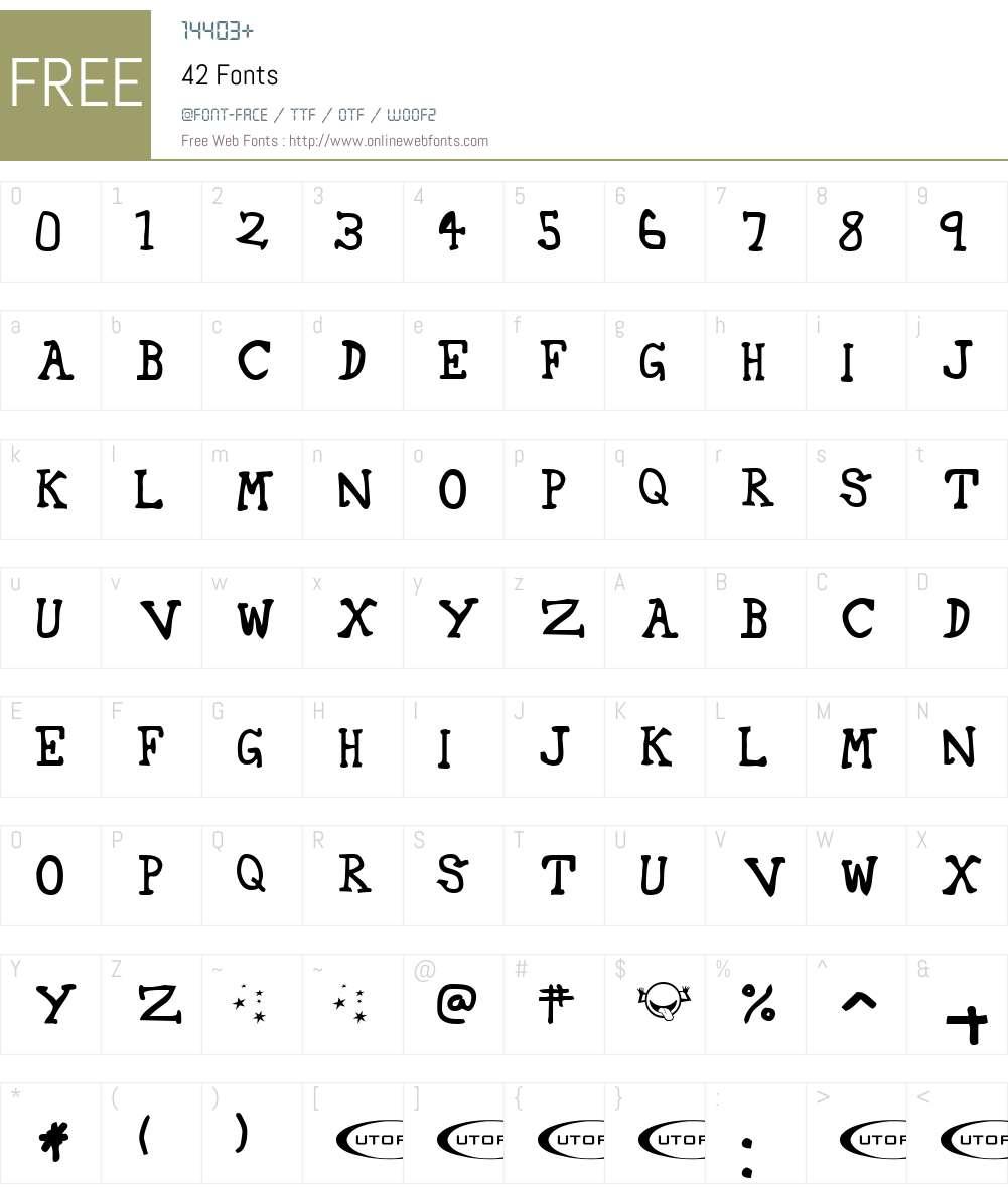 42 Font Screenshots