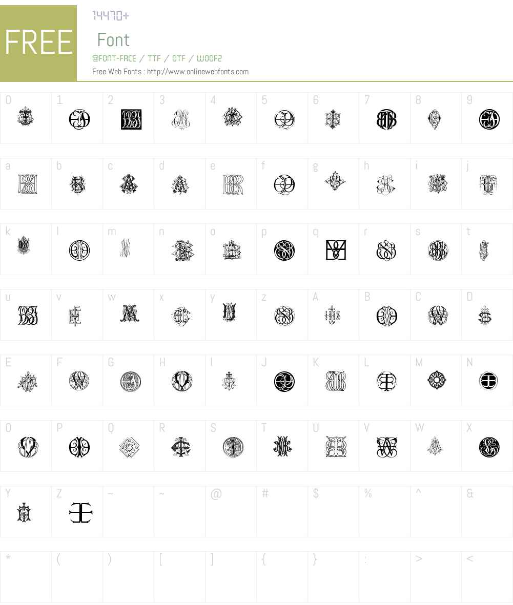 Intellecta Monograms Random Samples Ten Font Screenshots