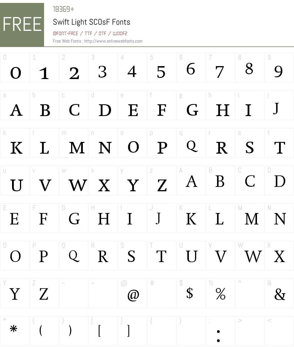 Swift Font Screenshots