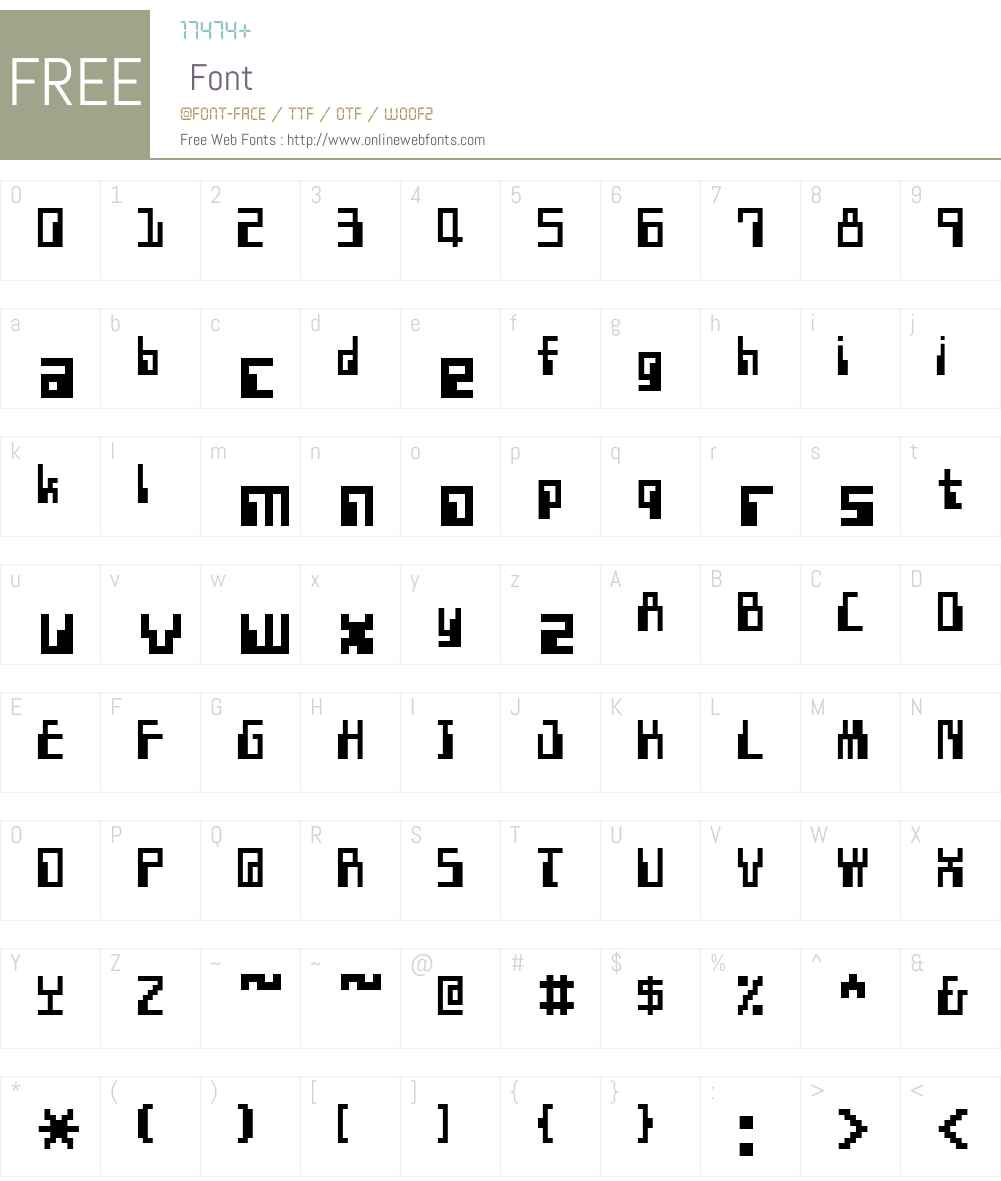 KSK DATA 10 Font Screenshots