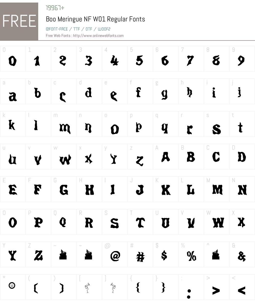 BooMeringueNFW01-Regular Font Screenshots