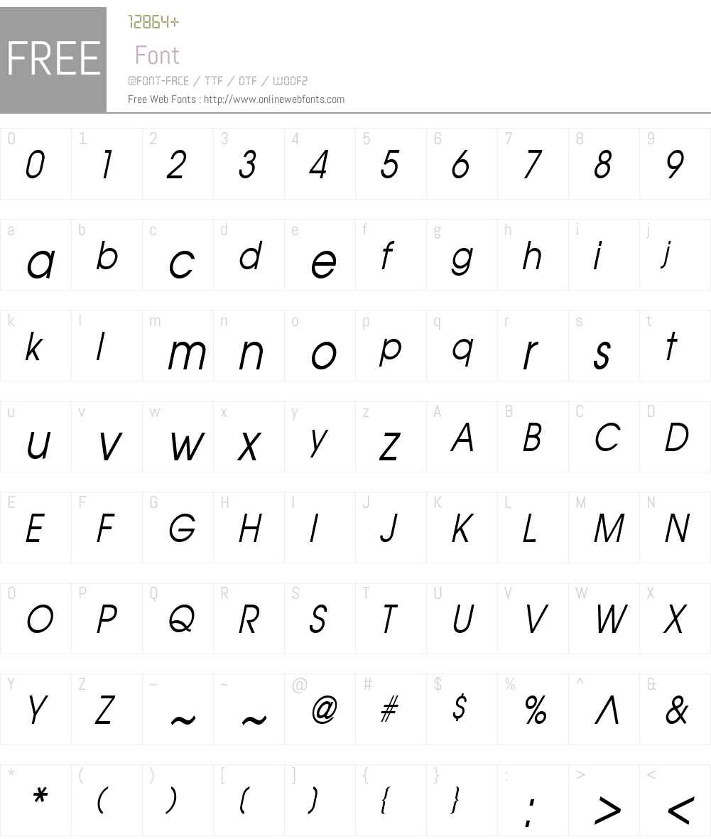 Atilla Condensed Font Screenshots