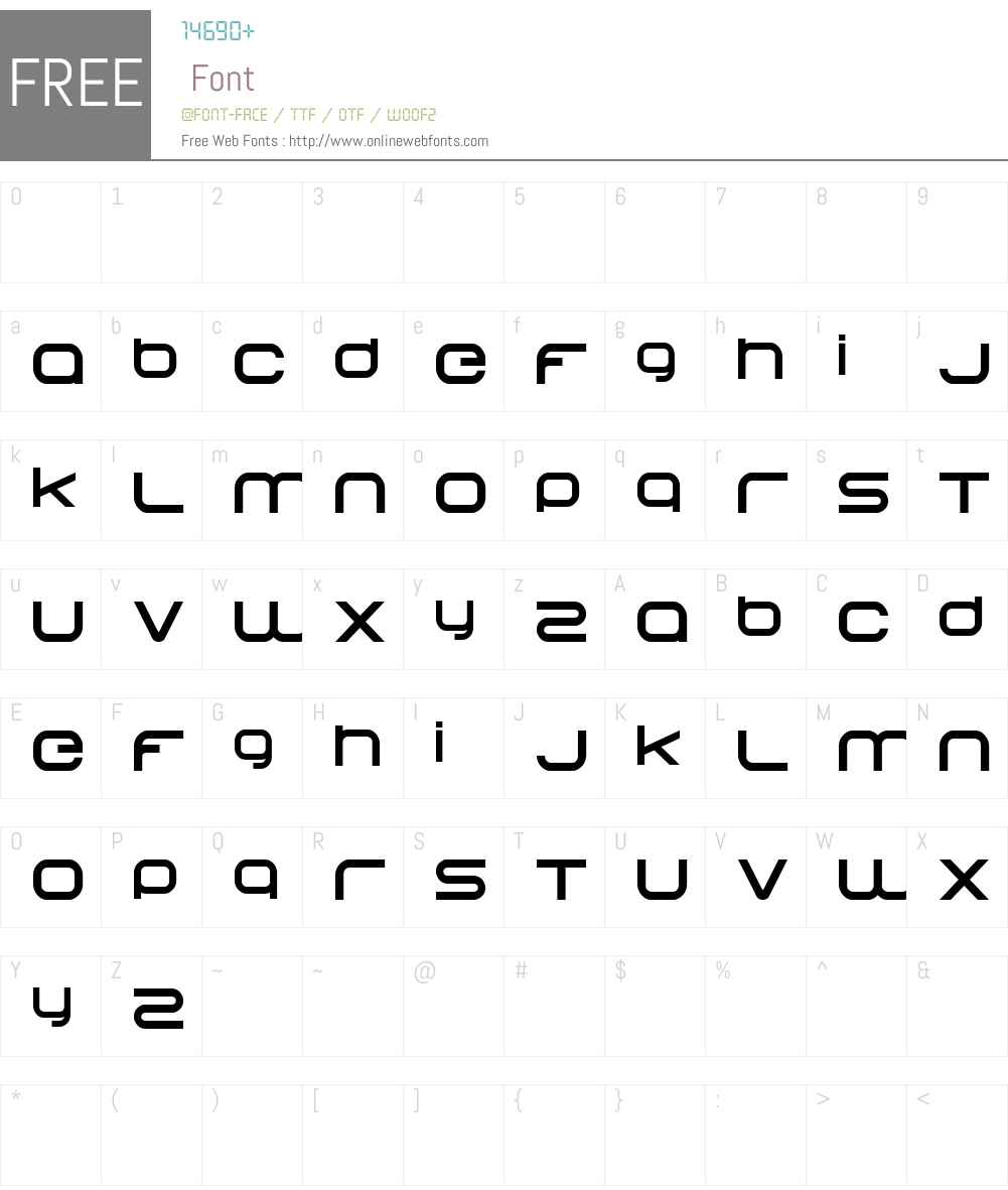 Begok Font Screenshots