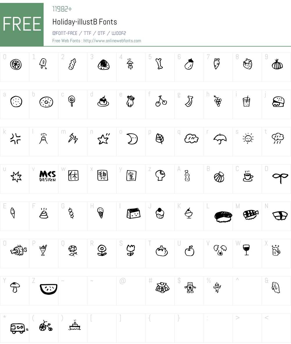 Holiday Font Screenshots