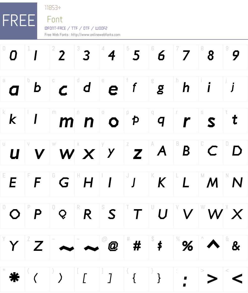 Jillican Heavy Font Screenshots