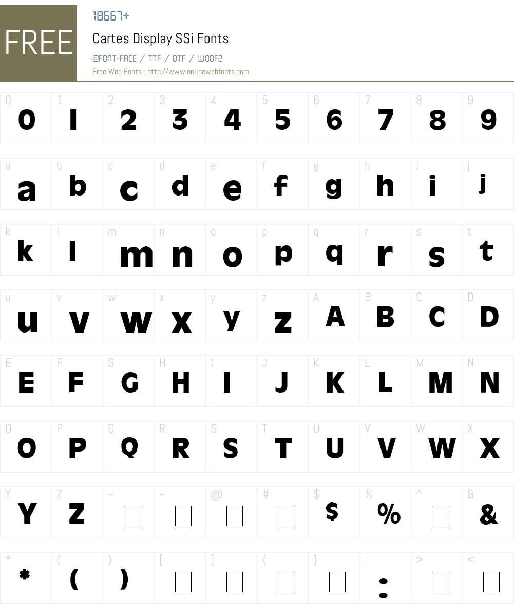 Cartes Display SSi Font Screenshots