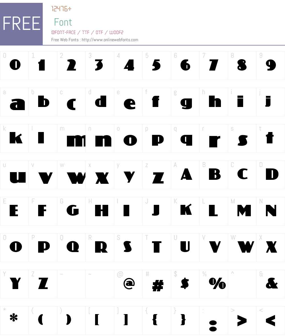 Phatt Phreddy NF Font Screenshots