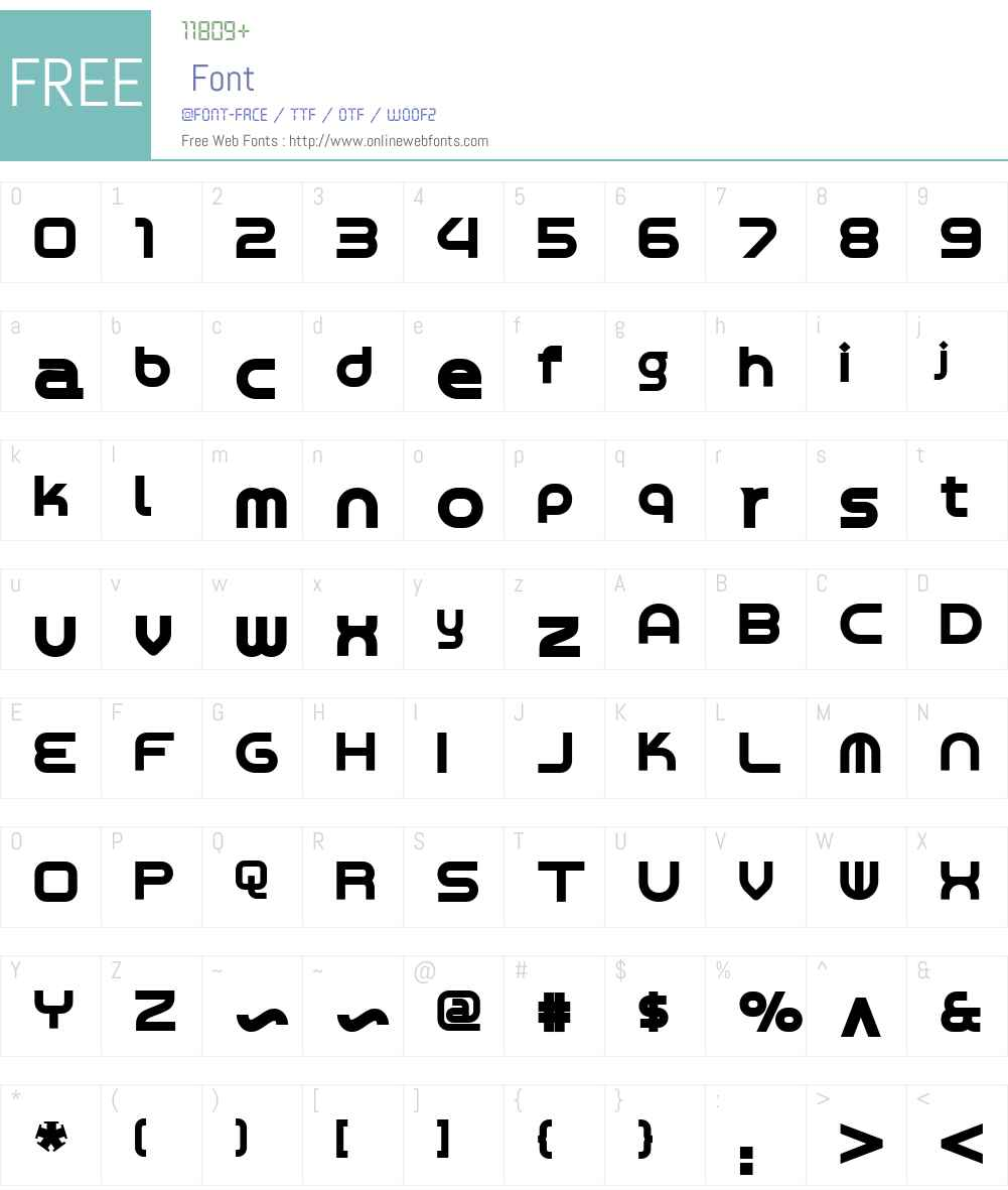 ChromiumYellowNFW01-Bold Font Screenshots