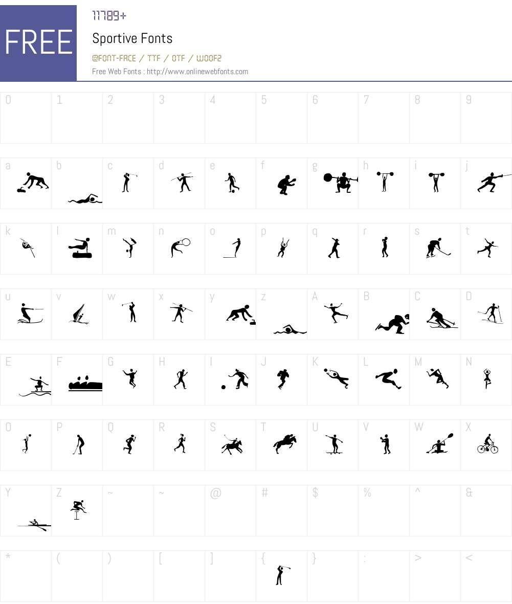 Sportive Font Screenshots