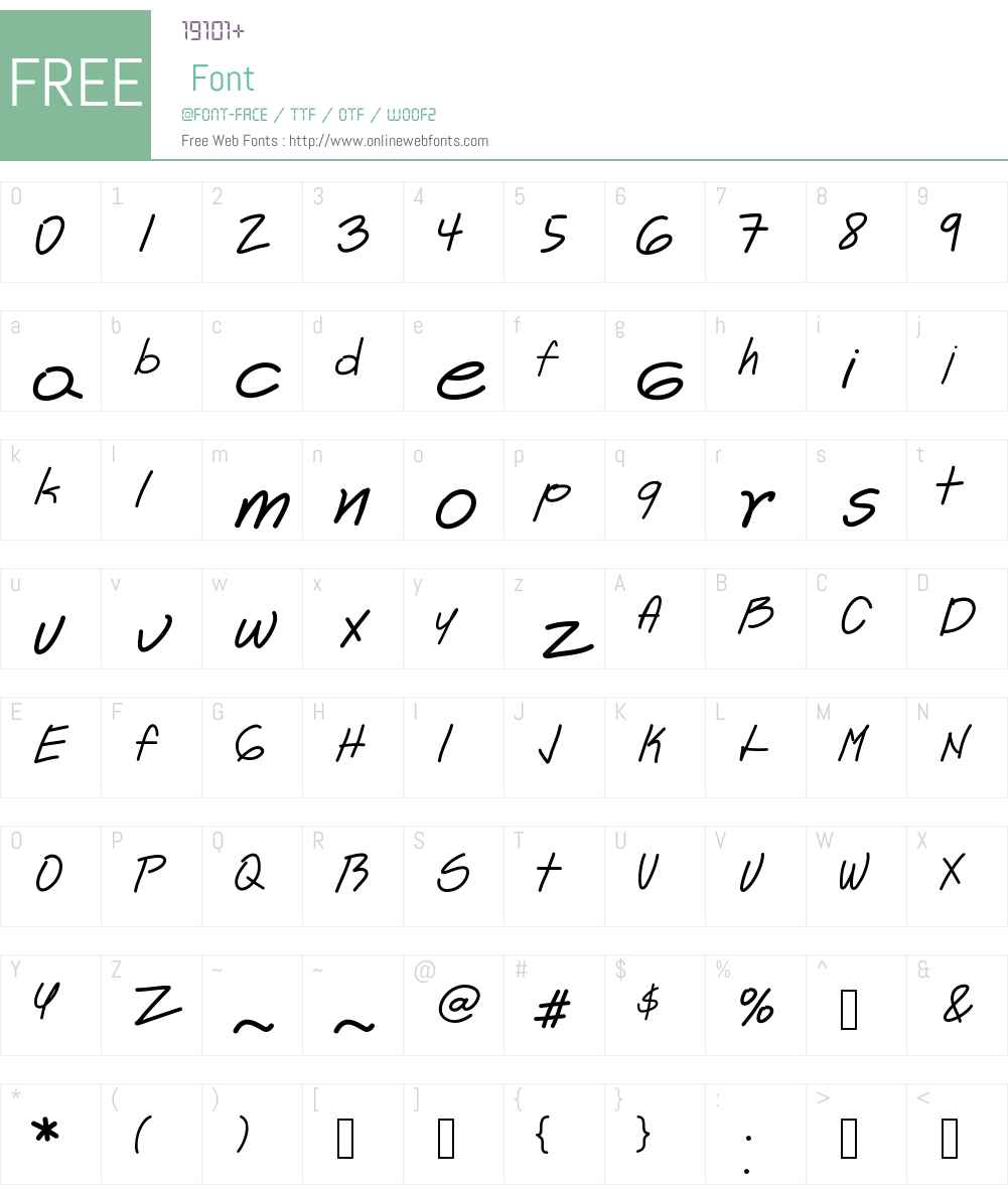 Astrid Font Screenshots