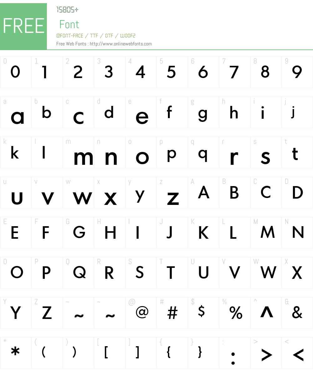 Comet Text Medium Font Screenshots