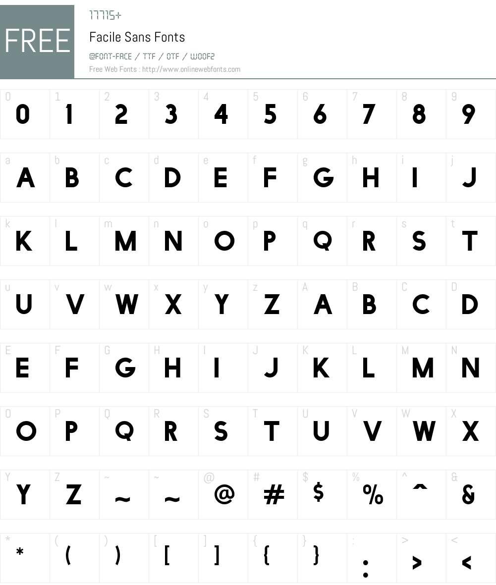 Facile Sans Font Screenshots