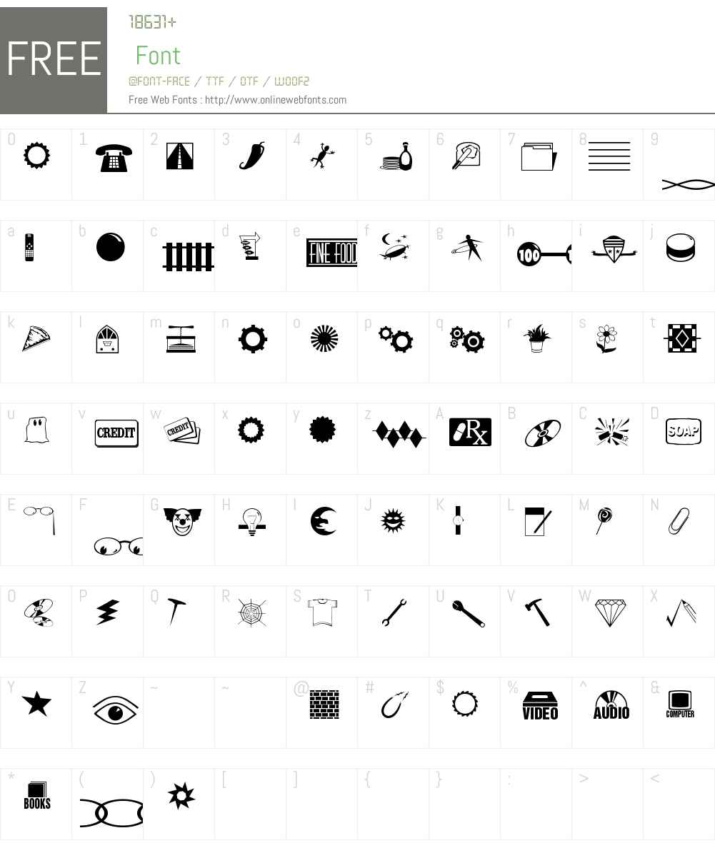 Even More Dings JL Font Screenshots