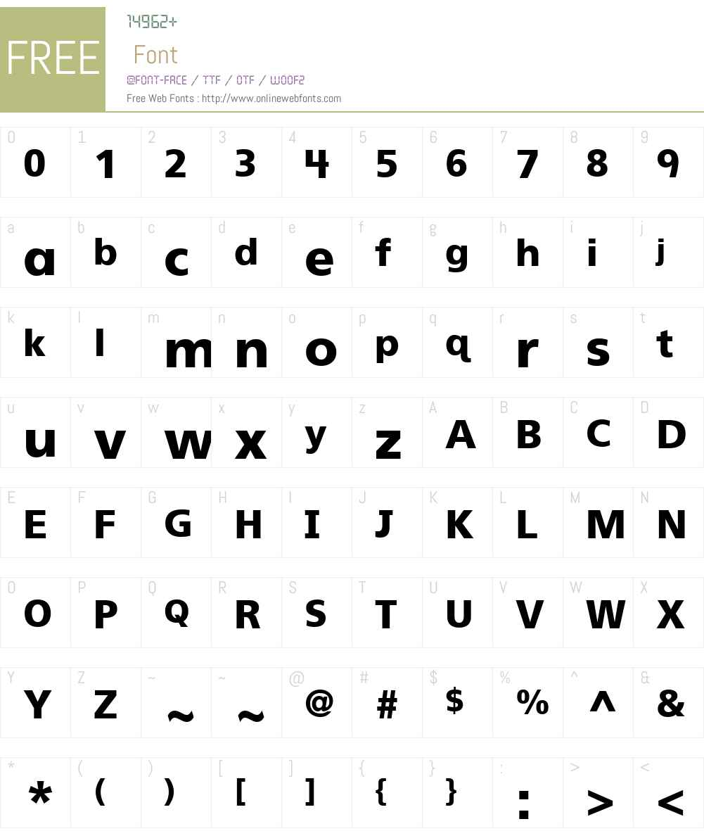 FrutigerPrimaryHMH-Black Font Screenshots