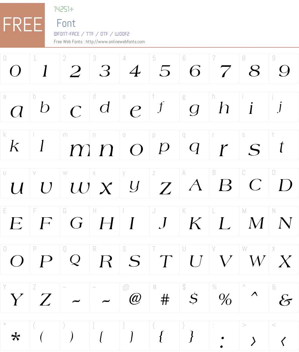 Amphion Font Screenshots
