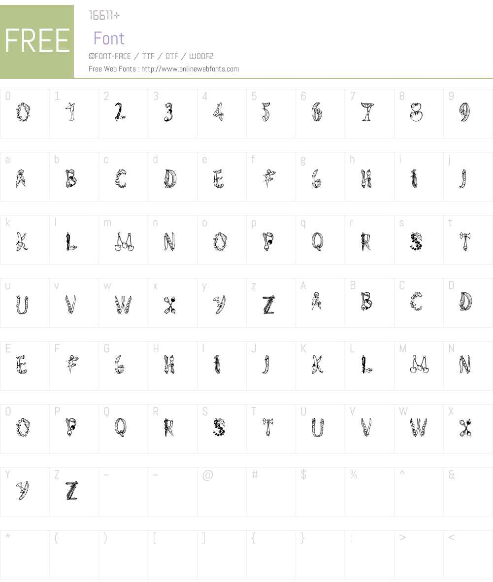 AlphaGarden Font Screenshots