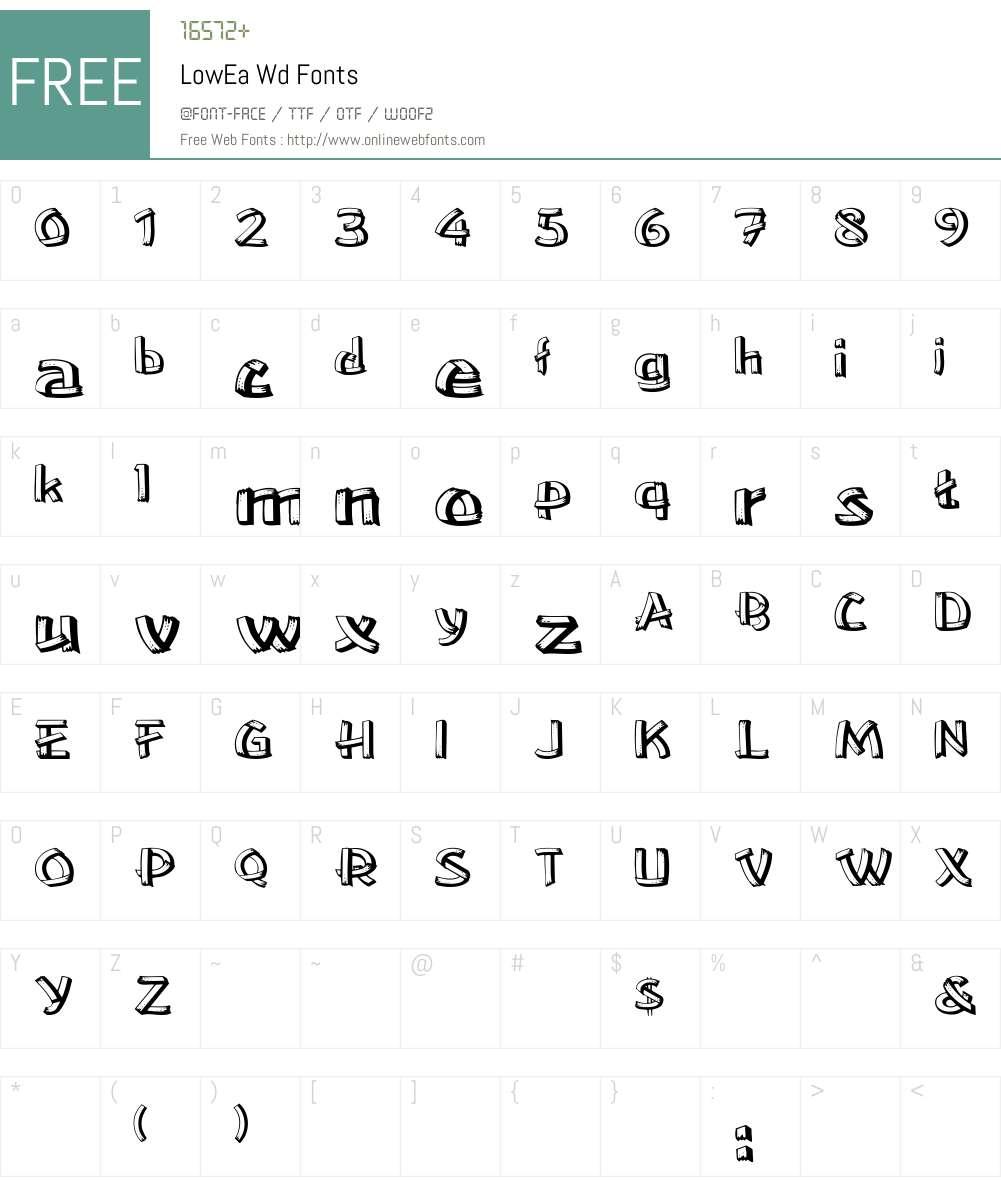 LowEa Wd Font Screenshots