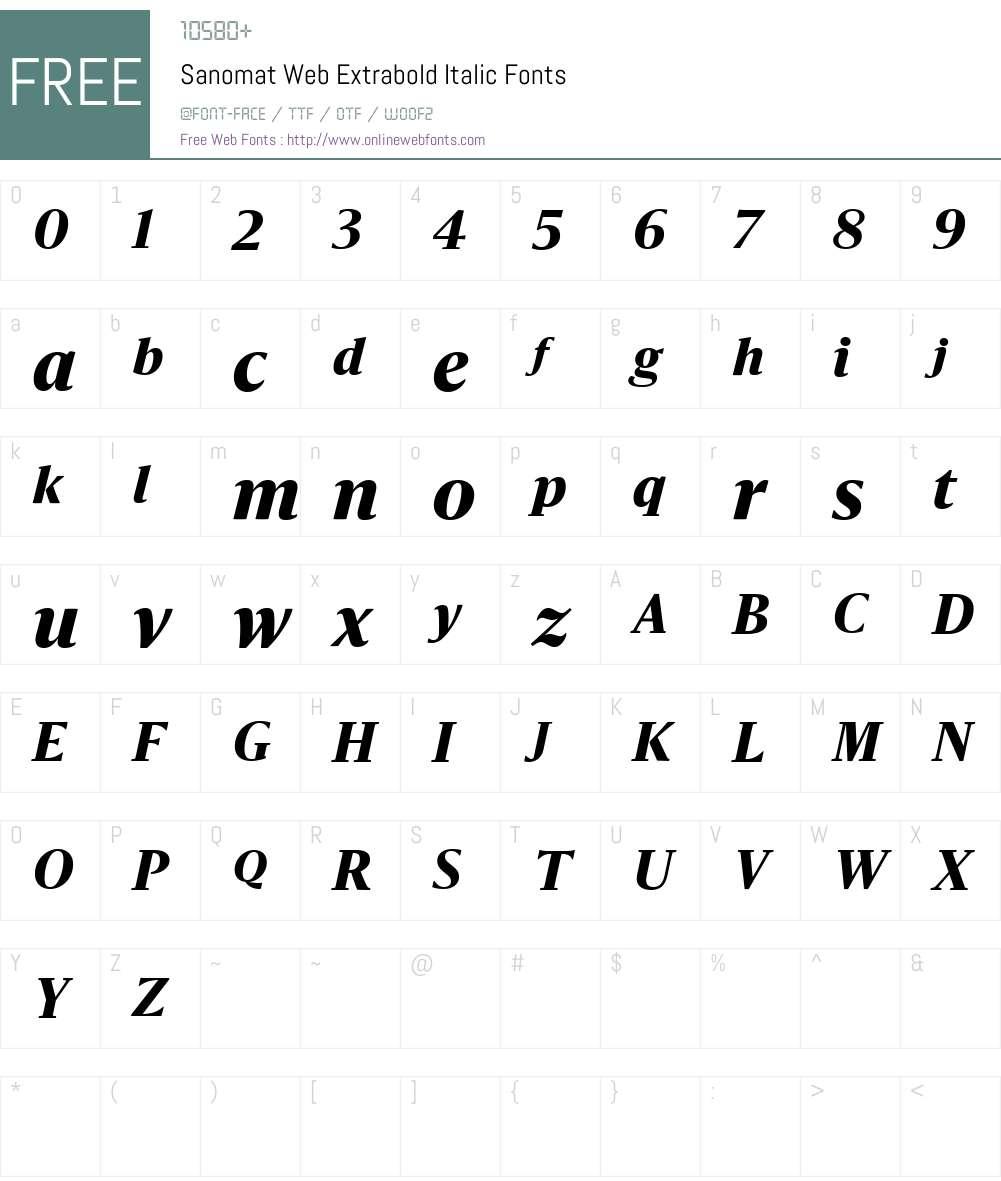Sanomat Web Extrabold Font Screenshots