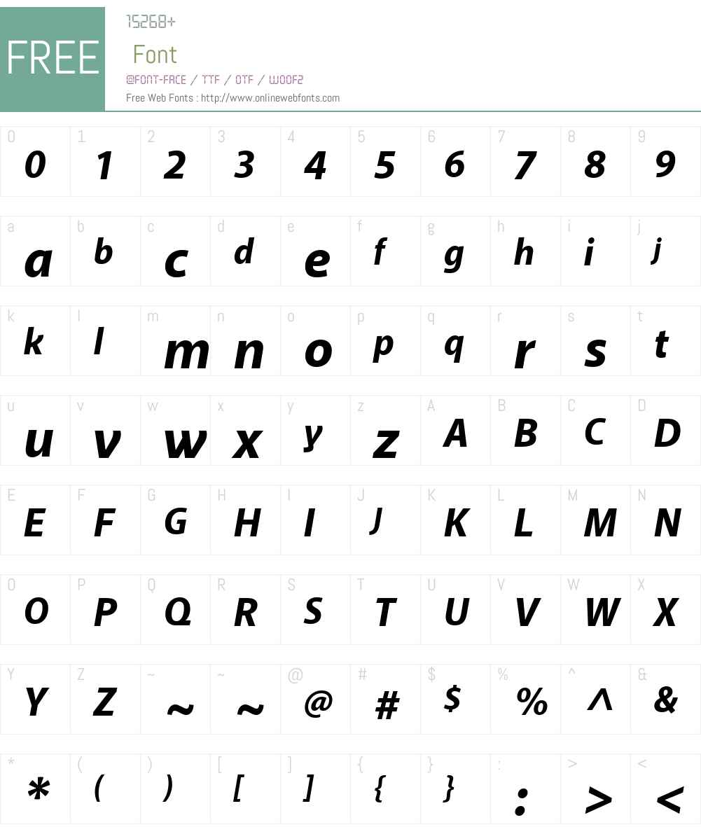 AkagiProW00-ExtraBoldIt Font Screenshots