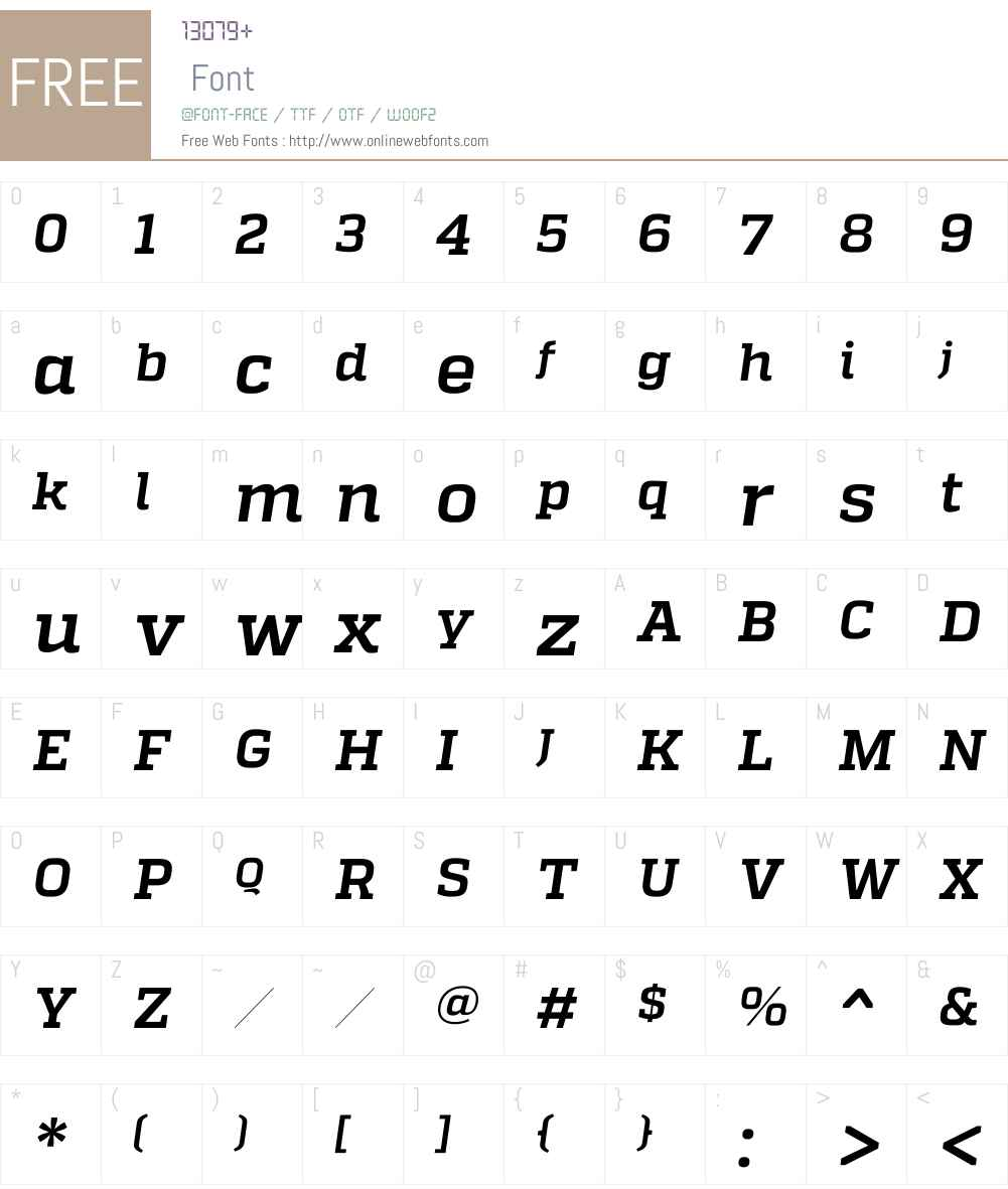 QuadonW00-BoldItalic Font Screenshots