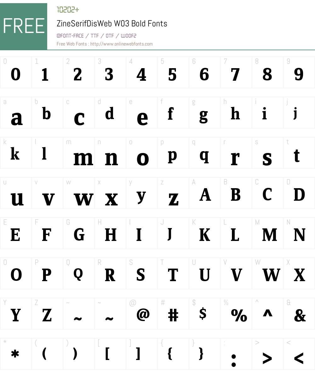 FF Zine Serif Display Font Screenshots