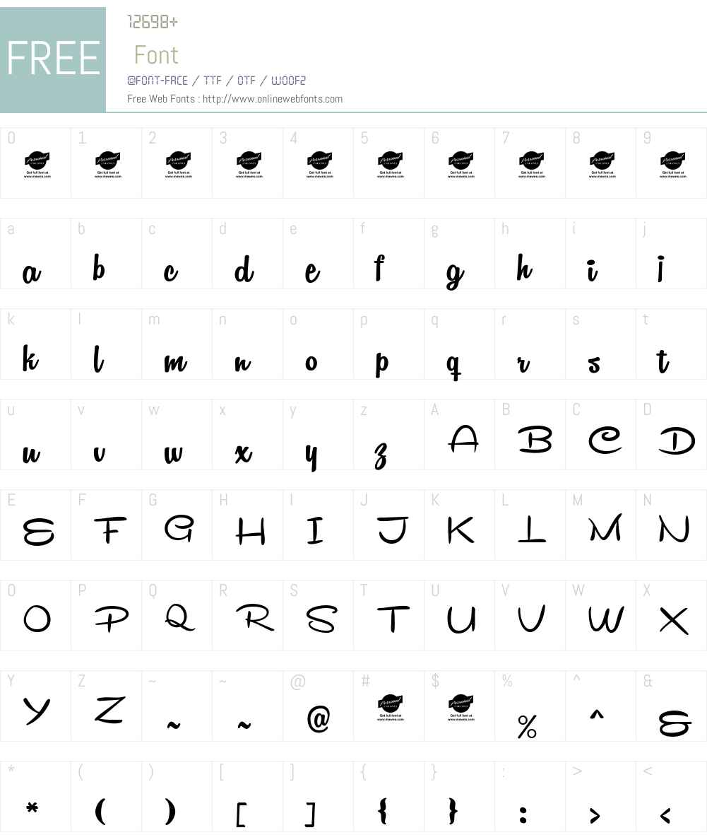 Remachine Script Personal Use Font Screenshots