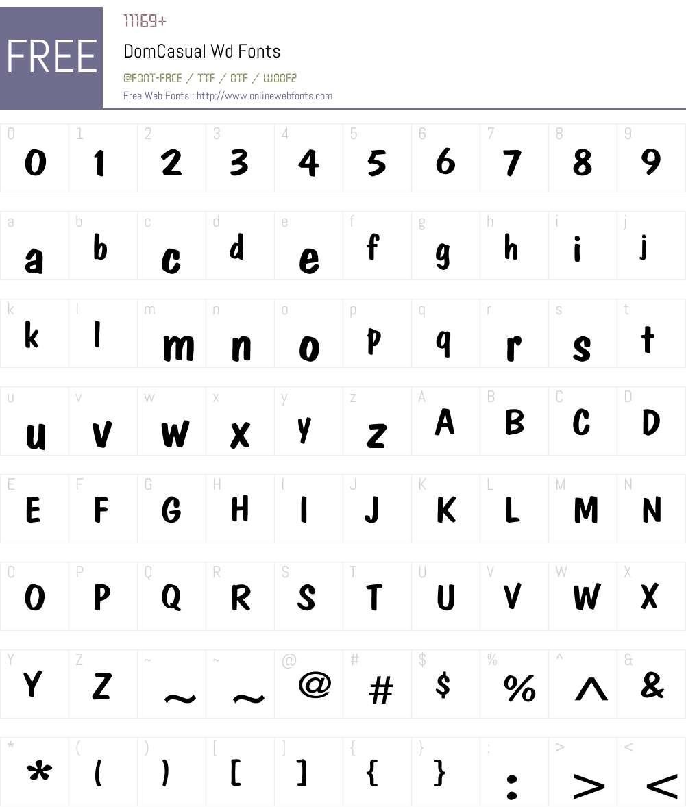 DomCasual Wd Font Screenshots