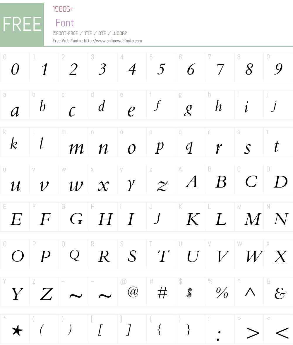 Bembo Std Font Screenshots