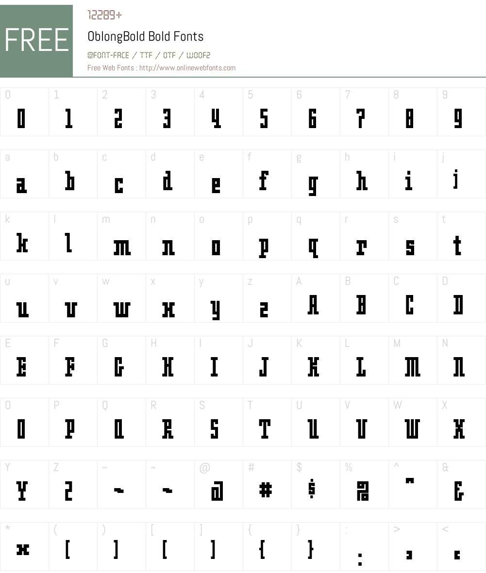 OblongBold Font Screenshots