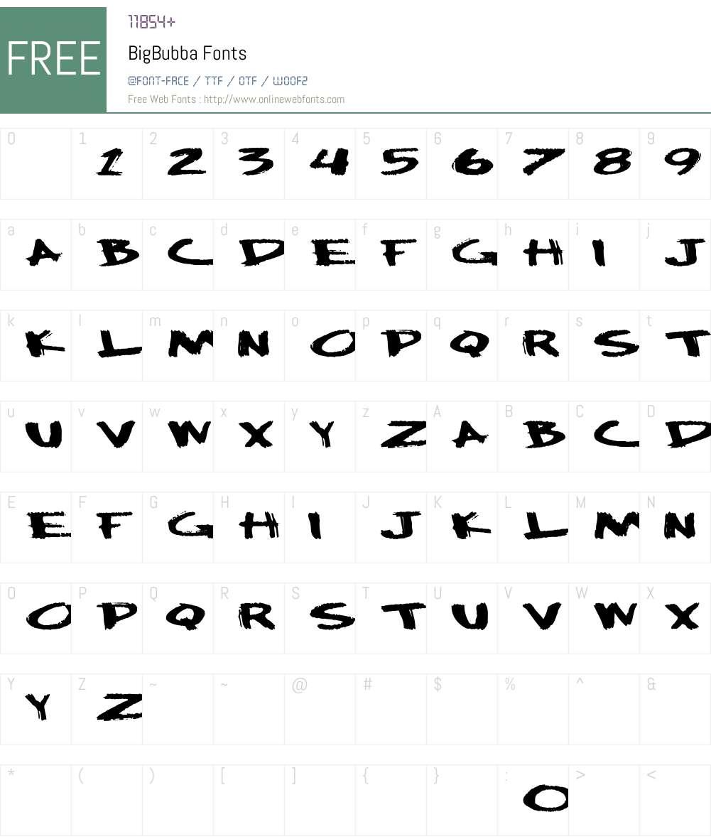 BigBubba Font Screenshots