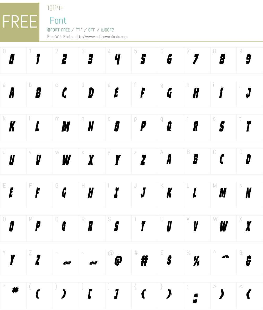 Clubber Lang Italic Font Screenshots