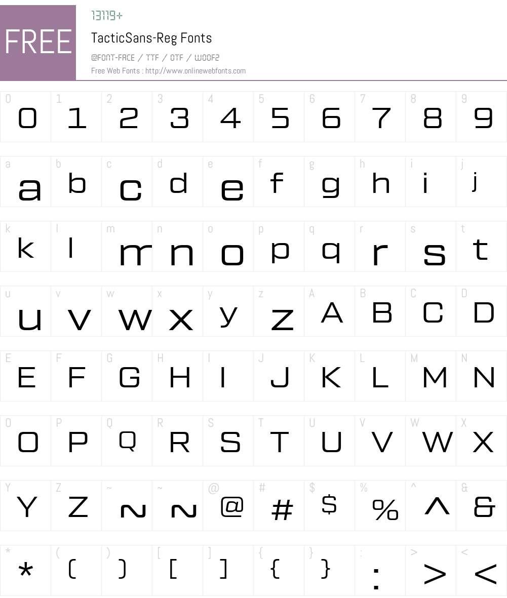 TacticSans-Reg Font Screenshots