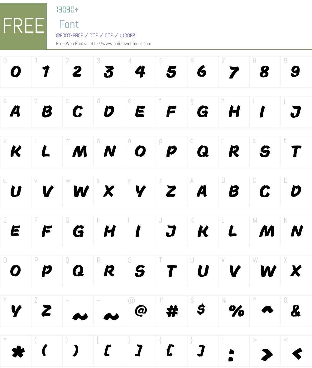 Acron Font Screenshots