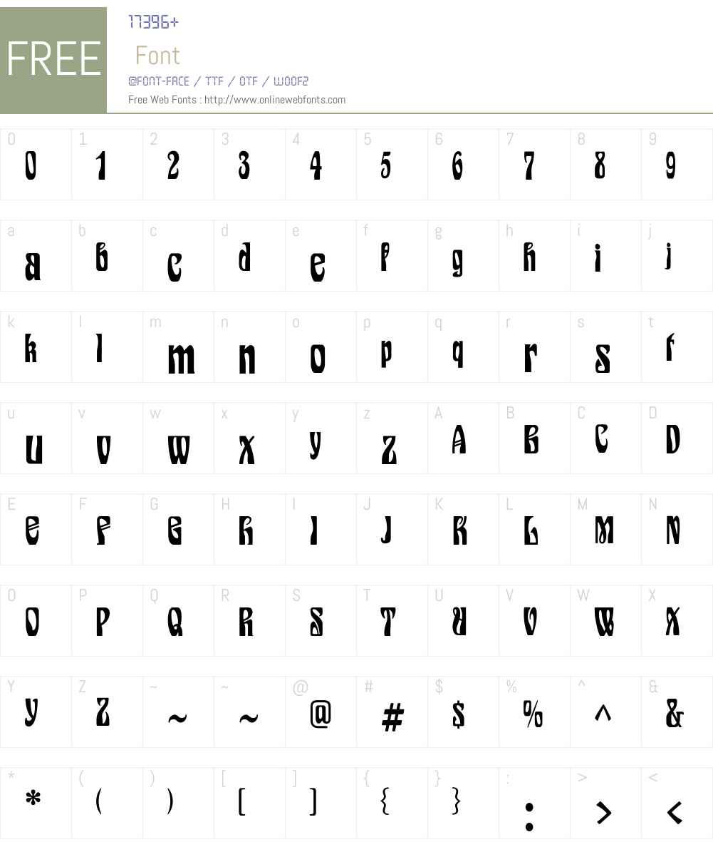 EpoqueFLF Font Screenshots