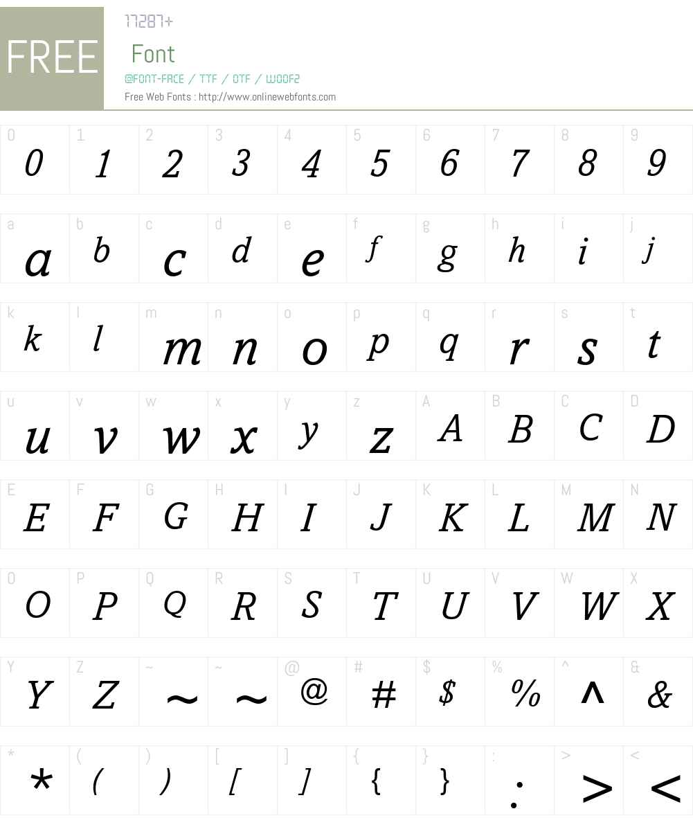 Amasis eText Font Screenshots