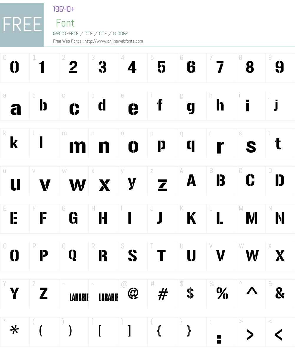 Gunplay Font Screenshots
