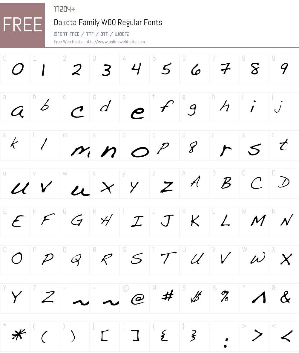 DakotaFamilyW00-Regular Font Screenshots