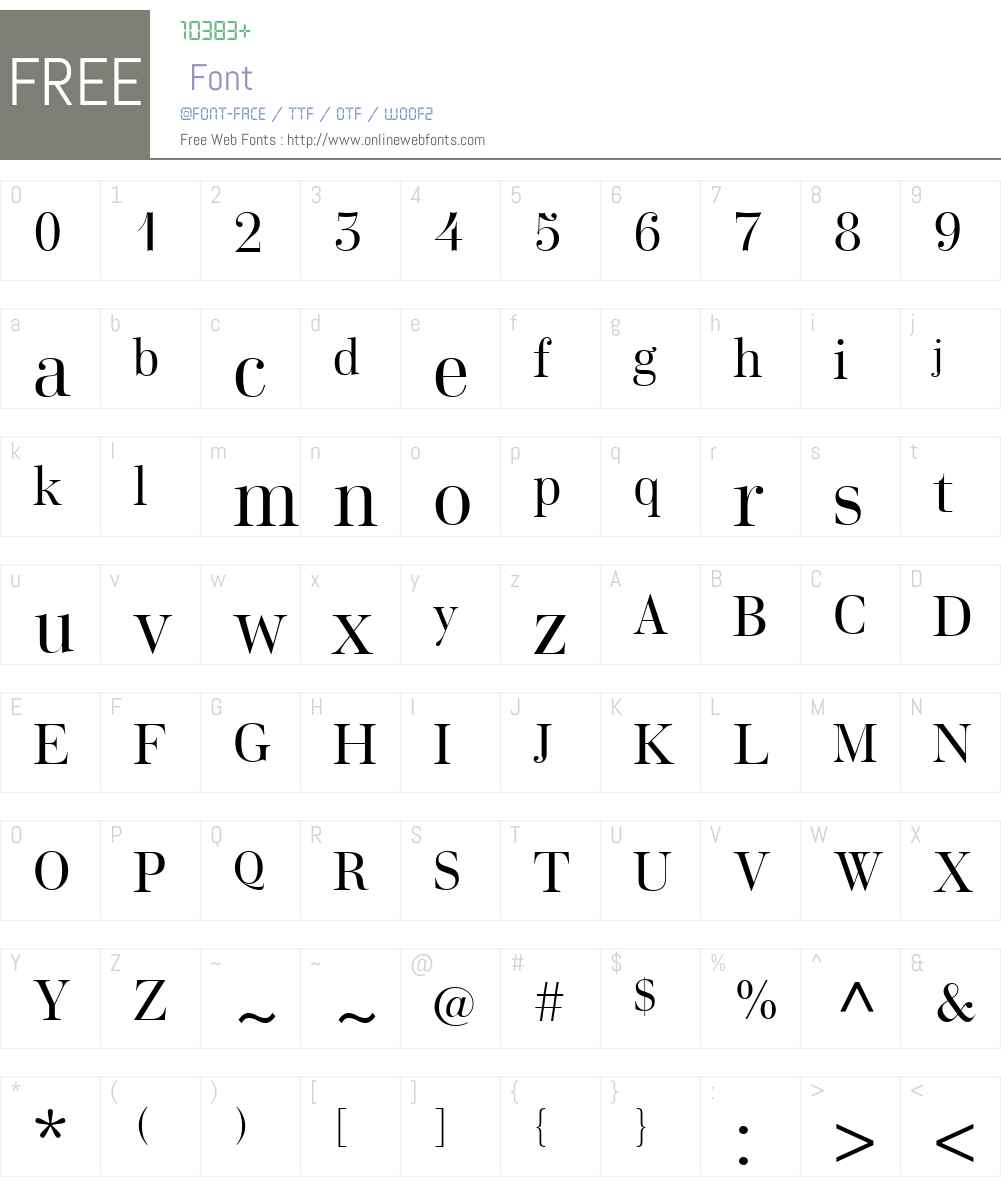Home Display Font Screenshots