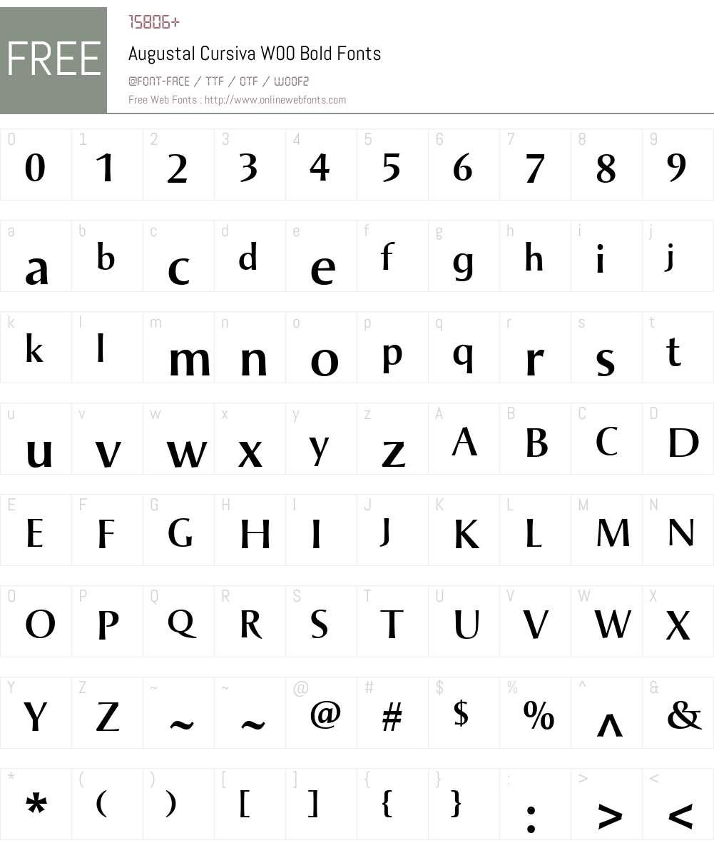 AugustalCursivaW00-Bold Font Screenshots