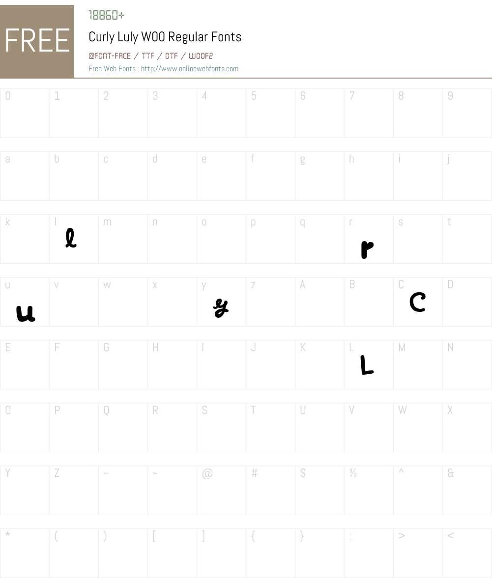 CurlyLulyW00-Regular Font Screenshots